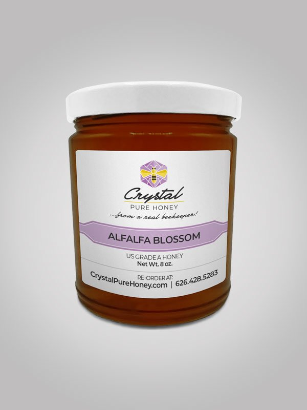 Alfalfa Blossom Honey 8oz Jar