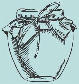 Illustrated Honey Jar