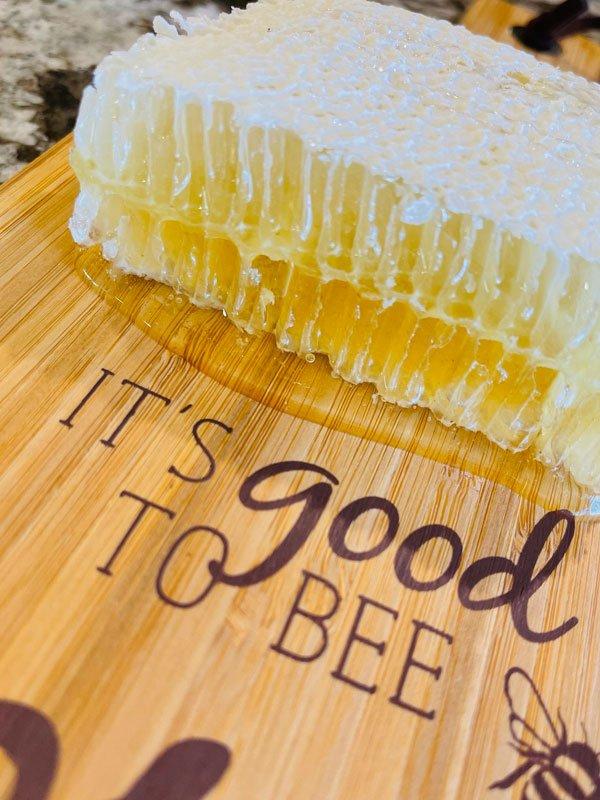 Fresh Honey Comb Beekeeper